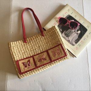 Genuine Corn Husk summer handbag.